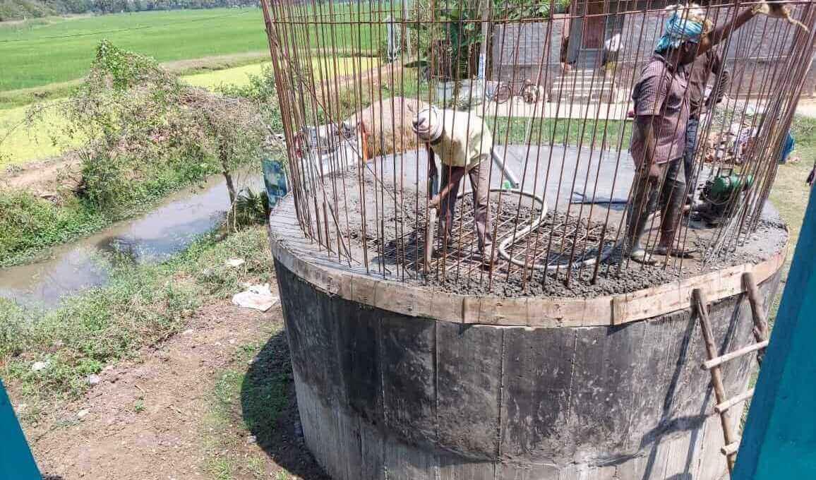 GSLR Tank Construction at Chodavaram